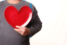 Free Man With Heart Stock Image - 4236591