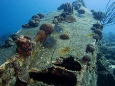 A Small Wreck On Bonaire Stock Photography