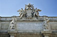 Detail Of The Trevi Fountain Royalty Free Stock Images