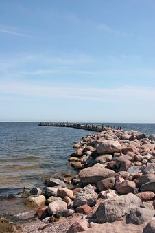 Free Stony Pier Royalty Free Stock Photo - 4239225