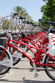 Free Rent-a-bike-station Royalty Free Stock Image - 42335986