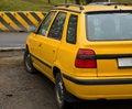 Free Yellow Car Near The Road Royalty Free Stock Photos - 4243558