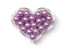 Heart-shaped Box With Pink Pearls
