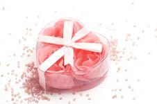 Foam Roses And Bath Salt Stock Images