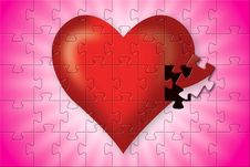 Free Incomplete Without You... Heart Jigsaw Royalty Free Stock Photo - 4240425