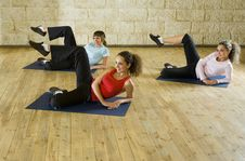 Free Young Women Exercising On Mat Royalty Free Stock Photos - 4241088
