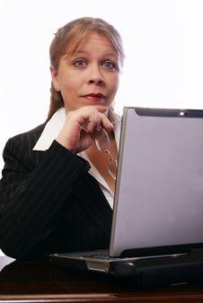 Free Professional Woman Raises Eyebrows Royalty Free Stock Photography - 4241567