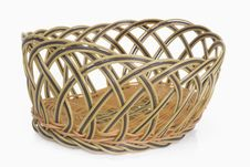 Free Empty Wicker Basket Royalty Free Stock Image - 4243226