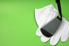 Free Golf Glove And Club Royalty Free Stock Images - 4244879