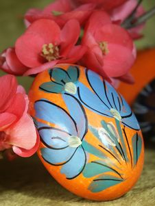 Free Easter Egg With Flowers Royalty Free Stock Image - 4245176