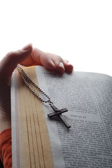 Free Bible And Cross Stock Photo - 4246810
