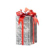 Free Silver Celebratory Gift Royalty Free Stock Images - 4248109