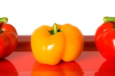 Free Closeup Of Red And Yellow Bellpeppers. Royalty Free Stock Images - 4248519