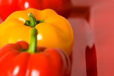 Free Macro Of Fresh Red And Yellow Bellpeppers. Royalty Free Stock Images - 4248579