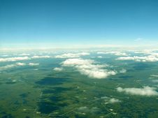 Free Western Siberia. Cloudy Airview Stock Photography - 4248832