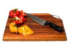 Free Cutting Board With Sliced Bell Peppers. Stock Photo - 4249200