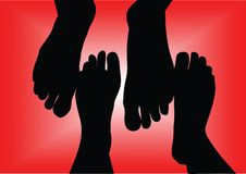 Free Silhouette Of Barefoots Royalty Free Stock Photo - 4249605