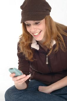 Free Young Woman With Cell Phone Royalty Free Stock Photography - 4249737