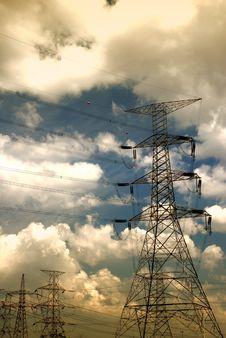 Electricity Yard 02 Stock Photo