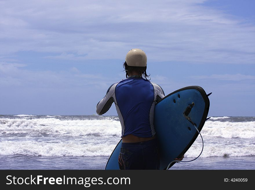 Going to surf