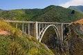 Free Bridge Connecting Two Mountains Stock Image - 4255881