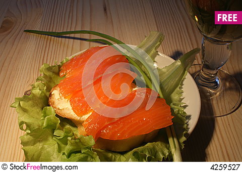 Free Fish Sandwich Royalty Free Stock Photography - 4259527