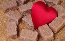 Free Brawn Sugar With Heart Stock Images - 4250074