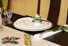 Free Asian Table Setting Royalty Free Stock Photography - 4251057