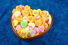 Free Bowl Of Sweethearts Royalty Free Stock Photography - 4251757