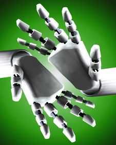 Free Pair Of Robo Hands 5 Stock Photos - 4251893