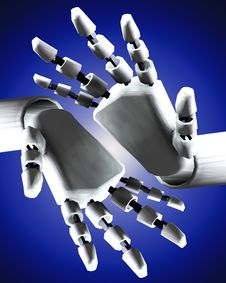 Free Pair Of Robo Hands 6 Royalty Free Stock Images - 4251899