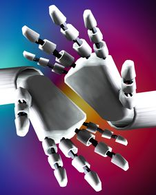 Free Pair Of Robo Hands 8 Royalty Free Stock Photography - 4251907