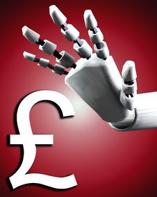 Free Robo Hand And Money Stock Photos - 4252033
