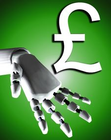 Free Robo Hand And Money 4 Royalty Free Stock Photography - 4252067