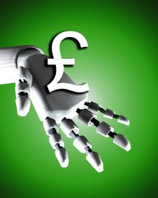 Free Robo Hand And Money 5 Stock Image - 4252071