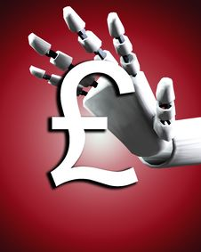 Free Robo Hand And Money 3 Royalty Free Stock Photo - 4252075