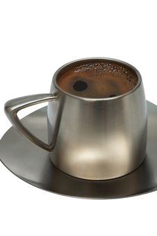 Free Coffee In A Metal Cup Royalty Free Stock Photography - 4253387