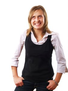 Free Young Businesswoman Laughing Stock Photos - 4253413