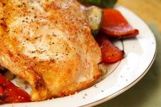 Free Broiled Pepper Chicken Royalty Free Stock Photo - 4253655