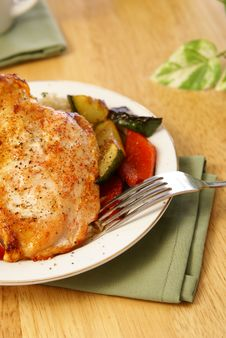 Free Broiled Pepper Chicken Royalty Free Stock Image - 4253686