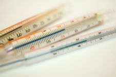 Free Thermometers Royalty Free Stock Image - 4253836