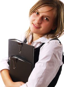 Free Businesswoman At Work Royalty Free Stock Photography - 4253967