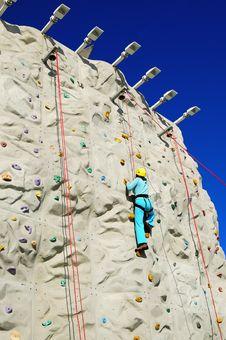 Free Rock Climbing Wall Royalty Free Stock Image - 4254736
