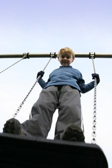 Free Standing On A Swing Stock Photos - 4254753