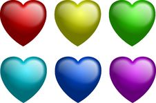 Free Gel Hearts In Color Stock Images - 4254784