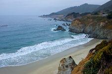 Free Foggy California Coast Royalty Free Stock Photo - 4255555
