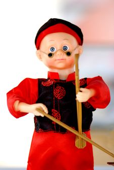 Free The Doll Of A Chinese Boy Royalty Free Stock Photography - 4255707