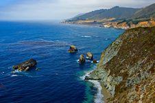 Free Foggy California Coast Royalty Free Stock Photo - 4255875