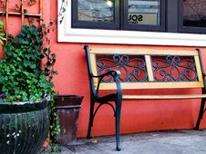 Free City Bench Royalty Free Stock Images - 4256539