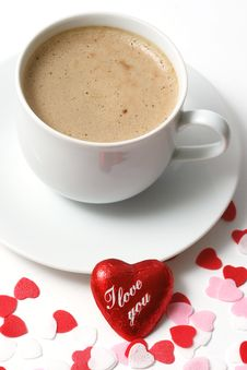 Free Valentine Coffee Stock Image - 4256811